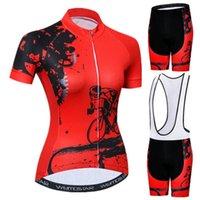 Гоночные наборы WeiMostar Летний Велоспорт Джерси Установить с короткими рукавами Женщины Горный велосипед Одежда дышащая одежда про велосипедную одежду