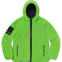 Куртка 20FW B Большой слого Полярный флис с капюшоном Supreimei Толстовки толстовки толстовки толстовки