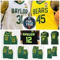 NCAA Basquete Final Four Baylor Bears College 12 Jared Butler Jersey 10 Adam Flagler 24 Matthew Mayer 31 Macio Teagua 45 Davion Mitchell