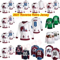 2021 Reverse Retro Hóquei Jersey Colorado Avalanche Jerseys 25 Logan O'Connor Cale Makar Nathan Mackinon Nikita Zadorov Costume Costume