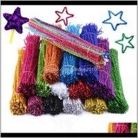 Decorations Festive Supplies Home & Garden30*0Dot6Cm Flash Glitter Top Hair Root Crooked Stick Children Kindergarten Manual Diy Material Chr