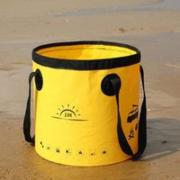 Buckets 10 20L Folding Bucket Portable Water Storage Bag Camping Pail Collapsible Hiking Container Fishing Carrier