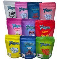 3,5 g Sacs en plastique Cookie Truffe Stand up Pochette Emballage comestible avec matériau tactile doux