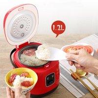 Fogões de arroz 1.2L mini fogão elétrico inteligente cozinha automática cozinha 1-2 pessoas pequenas ferramentas de cozimento de aparelhos inteligentes
