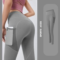 Quick-drying Yoga Pants Hip-lifting Bottoming Clothes Breathable Stretch Mesh Side Pockets Running Sports Fitness Leggings