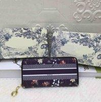 2021 Lady Wallets Moda Mulheres Cartões Cartões Bolsa de Alta Qualidade Carteira Clássica Multi-Função Multi-Card Letter Pattern Mão Saco Com Caixa