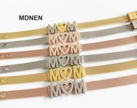 """Tennis 1PC Keeper Bracelets Jewelry Stainless Steel With 3PCS """"Mom LOVE Mom""""Slide Charms For DIY Accessory"""