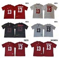NCAA faculdade tua tuavailoa jerseys 13 alabama carmesim maré futebol jersey vermelho homens brancos mulheres juventude