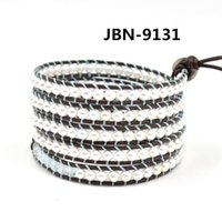 Adjustable Rope Chain Beaded Strands Top Multi Layer Braided Leather Bracelet with Synthetic Pearl Beads Braided Wrap Wristbands Fashion Jewelry