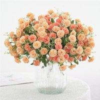 Dekorative Blumen Kränze Künstliche Simulation Hortensie Gefälschte Seidenblume Home Party Garten Kleine lila Dekor 1