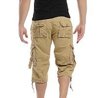 Men's Shorts Casual Men Summer Camouflage Cotton Cargo Camo Short Pants Homme Without Belt Drop Calf-Length