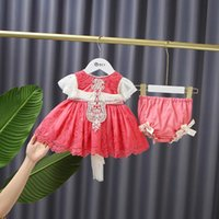Girl's Dresses Baby Girl Lolita Princess Dress Children Spanish Clothes Set Infants Spain Red With PP Short Pants Toddler Birthday Gift