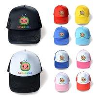 Tiktok Kids Designers Mesh Ball Hat Cocomelon JJ Baseball Caps Sports Snapback Adjustable Summer Cartoon Visor Boys Girls Beach Casual