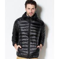 럭셔리 브랜드 남성용 다운 재킷 화이트 오리 다운 재킷 2021 휴대용 후드 코트 초경량 남성 겨울 따뜻한 열 파커 플러스 크기 6xl
