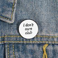 Ben Kulübü Emaye Pin Özel Beyaz Yuvarlak Broşlar Rozetleri Çanta Gömlek Yaka Pin Toka Komik Takı Hediye Arkadaşlar için 1029 Q2