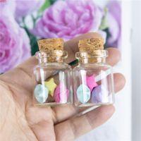 20ml Mini Bottle with Cork Stopper Tiny Empty Liquid Pill Powder Jewellery Ornament Wedding Decoration Gifts Bottles 50pcs lothigh qty