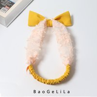 Scarves Acessórios de Cabelo Infantil Moda Simples Bebê Bonito Bangs Headdress Pai-criança Floral Bow Headband Design original