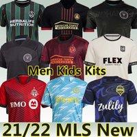 MLS 21/22 Futbol Forması Inter Miami LA Galaxy Los Angeles Atlanta Birleşik Yeni York Portland Montreal Philadelphia 2021 LAFC Erkekler Çocuk Kiti Üniformaları