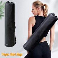 Outdoor Bags Portable Black Yoga Mat Bag Gym Sports Fitness Dance Storage Pilates Carry