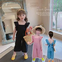 Girls Jumpsuit Summer Baby Trousers Kids Pants Braces Suspenders One Piece Clothing Romper Casual Lace Princess Dress Children Clothes Holiday Sweet B6302