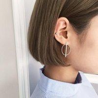 Stud Vintage Women 925 Sterling Silver Earrings Fashion Geometric Circle Jewelry Accessories