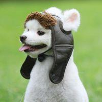 Dog Apparel Pet Dogs Autumn Winter Warm Cashmere Hat Puppy Comfortable Handsome PU Poilt Cap