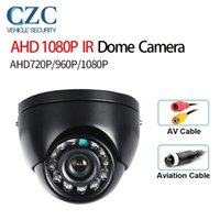 Cameras CCTV 1080P 720P AHD Camera Avation Indoor Black Mini Dome Analog 12 Led IR Cut Filter For Car Bus Truck TaxiHome Surveillance