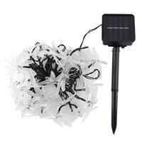 Cordes LED Solar String Light Suspendre creux Insecte Dragonfly Ballons de fées Lampe de fées Jardin Balcon Décor Street Fournitures d'éclairage extérieur