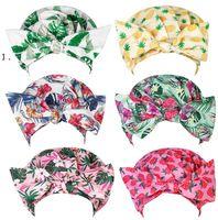 Women Shower Cap Bowknot Nightcap Fruit Seris Pattern Printed Perm Hat Fashion Bathing Hairs Waterproof Hats Hair HHB7789