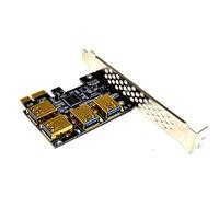 PCI-E 1XTO 16x Riser Connection PCI-Express 1 à 4 Slot PCIe USB3.0 Port Multiplicateur Port Multiplier Mineur pour BTC Bitcoin Mining
