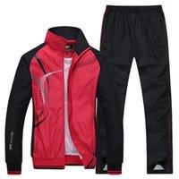 PLUS Taille Vêtements d'extérieur Set Spring Automne Sportswear 2 Pièce Sport Suit Veste + Pantalon SweatSuit Hommes Vêtements Tracksuit Ensembles