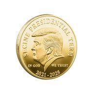 Trump 2024 Coin Craft commemorativo La vendetta Tour Salva America di nuovo Metal Badge Collection Art Commemorative Coin