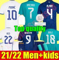 Gerçek Madrid Futbol Formaları 21 22 Ev Uzakta 3rd Benzema Alaba Tehlike Camiseta De Futbol 2021 2022 Kroos Modric Isco Futbol Gömlek Yetişkin Erkekler Kids Kiti Gençlik