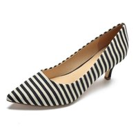 Dress Shoes Summer Fashion Sweet Women Sandals Buckle Pointed Toe High Heel With Ladies Striped Pumps NLK-C0184