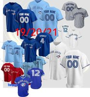 Personalizado Toronto Vladimir Guerrero Jr. Babolim Azul Jersey George Springer Roberto Alomar Carter Randal Grichuk Smoak Royal Stroman Qualidade