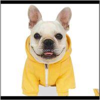 Apparel Supplies Home & Gardendog Sweater Pet Clothes Cotton Puppy Winter Sweatshirt Warm Jacket Solid Color Dog Clothing Drop Delivery 2021