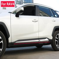 Suitable for 2021 Toyota RAV4 side skirt decorative strip door panel mounted glossy body brim decroation stickers car accessorie