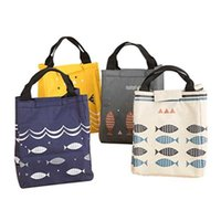 Multi-color Food Canvas Tote Bag Lunch Storage Insulation Bag Lunch Box Thick Aluminum Foil Lunch Box Convenient And Practical