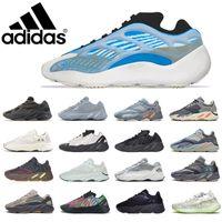 Adidas Kanye West 700 Koşu Ayakkabıları V2 Güneş Parlak Mavi Katı Gri Atalet Vanta Turuncu Üçlü Siyah Statik Erkek Bayan Basketbol Sneakers Eğitmenler