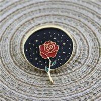 ZBQ Pins Dro Acessório Arte Rose ES Metal Igeon em Coulesuit Acessórios Óleo Dro Broche Acessório Badgerose Art Metal Crachá de Metal Broche P