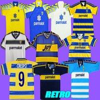 00 97 03 99 02 1913 Vintage Collection classique 1999 2000 Calcio Crespo Thuram Amoroso Tableau de football de Cannavaro Thuram Zola Buffon Shirts