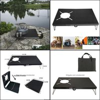 Camp And Sports & Outdoorscamp Furniture Cam Table Heat Insation Gas Stove Stand Outdoor Hiking Picnic Bbq Folding Desk For St310 St330 Drop