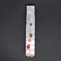 Sette Chakra Crystal Crystal Stones Sleenite Bacchetta bacchetta per yoga meditazione spirituale reiki perline filo avvolto Hairi Qylbcm EZRDD 403 Q2