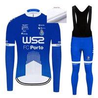 겨울 2021 WS2 Pro 팀 긴 소매 사이클링 저지 자전거 바지 세트 망 Ropa Ciclismo 열 양털 바이 사이클링 Culot1