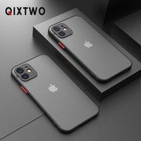 iPhone 11 12 Pro Max Mini X XS XR 7 8 Plus SE 2020超薄型透明カバーのための高級シリコン耐震性マット電話ケース