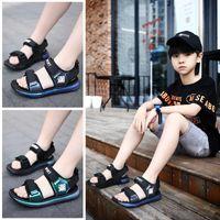 Boys' Sandals 2021 New Summer Korean Chaozi Children's Shoes Soft Soled Big and Medium Sized Boys' Beach Open Toe