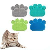 Cat Beds & Furniture Litter Mat Print Feeding Bowl Placemat Bed Pads Non-slip Waterproof Trapper Mats Accessories