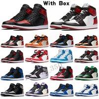 Nike Air Jordan 1 Alta Qualidade 1 Sapatos Sonhe apenas Faça UNC UNC UNCH SPACE JAM CESTAMENTE homens 9s Tour Amarelo PE Spirit Anthracite Sneakers