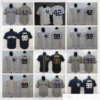 2022 새로운 야구 저지 99 아론 판사 유니폼 최고 품질의 골드 블랙 화이트 회색 회색 남성 사이즈 S-XXXL
