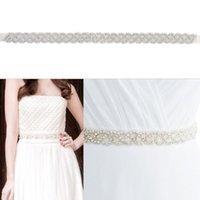 Belts Women's Vintage White Rhinestones Handmade Belt Wedding Dress Accessories Marriage Bridal Sashes